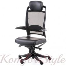 Кресло руководителя FULKRUM BLACK LEATHER, BLACK MESH
