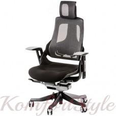 Кресло  руководителя  WAU BLACK FABRIC, CHARCOAL NETWORK
