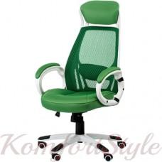 Кресло  руководителя Briz green/white