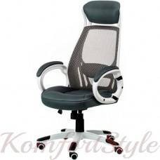 Кресло  руководителя Briz grey/white