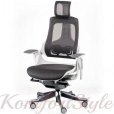 Кресло  руководителя  WAU CHARCOAL NETWORK WHITE